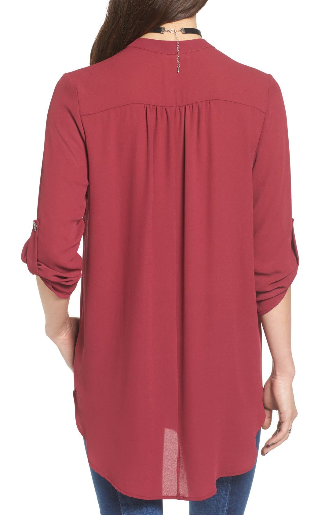 ,                             Perfect Roll Tab Sleeve Tunic,                             Alternate thumbnail 338, color,                             602