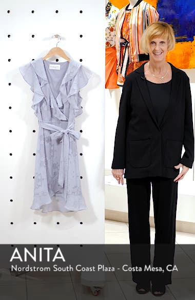 Pippa Ruffle Faux Wrap Dress, sales video thumbnail