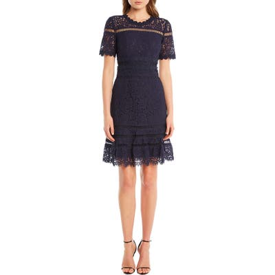 Bardot Eloise Lace Dress, Blue