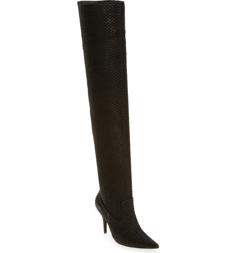 JEFFREY CAMPBELL Galactic Thigh High Boot, Main, color, 001