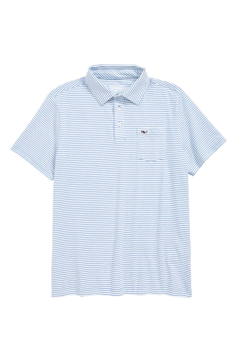 VINEYARD VINES Edgartown Stripe Polo, Main, color, COASTLINE