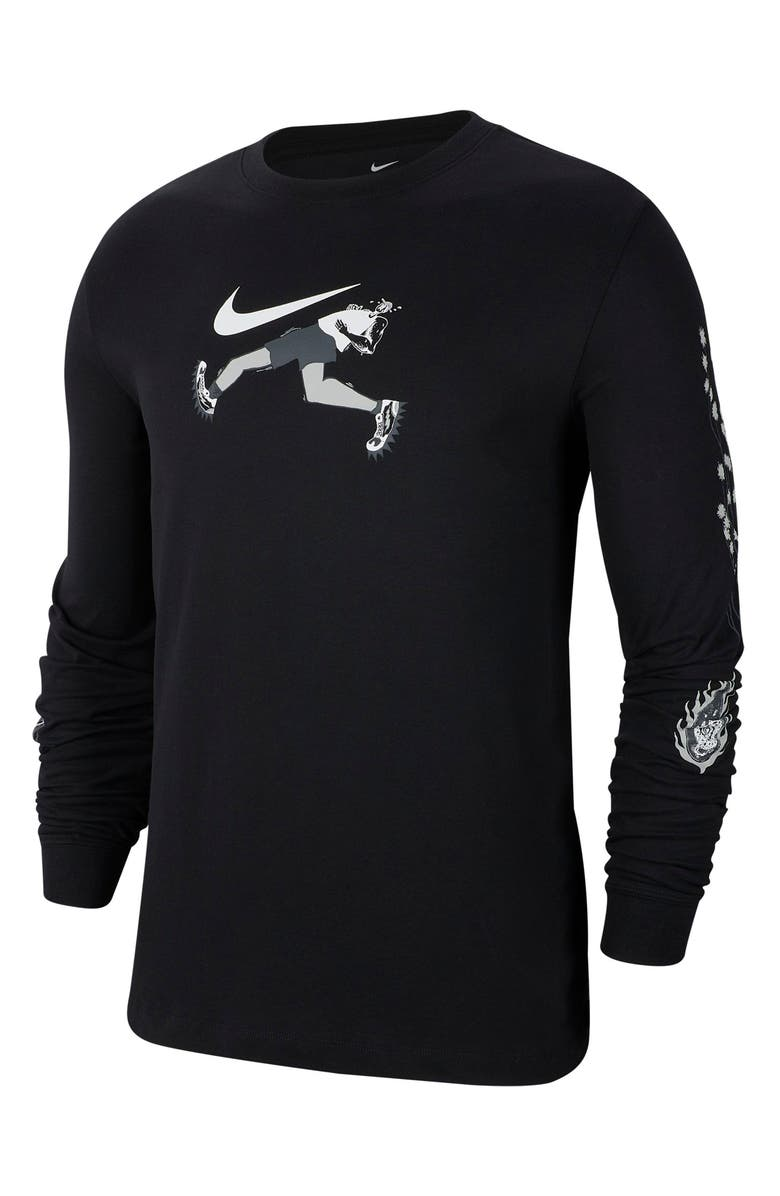 NIKE Dri-FIT Wild Run Long Sleeve Performance T-Shirt, Main, color, 010