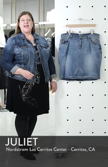 Denim A-Line Skirt, sales video thumbnail