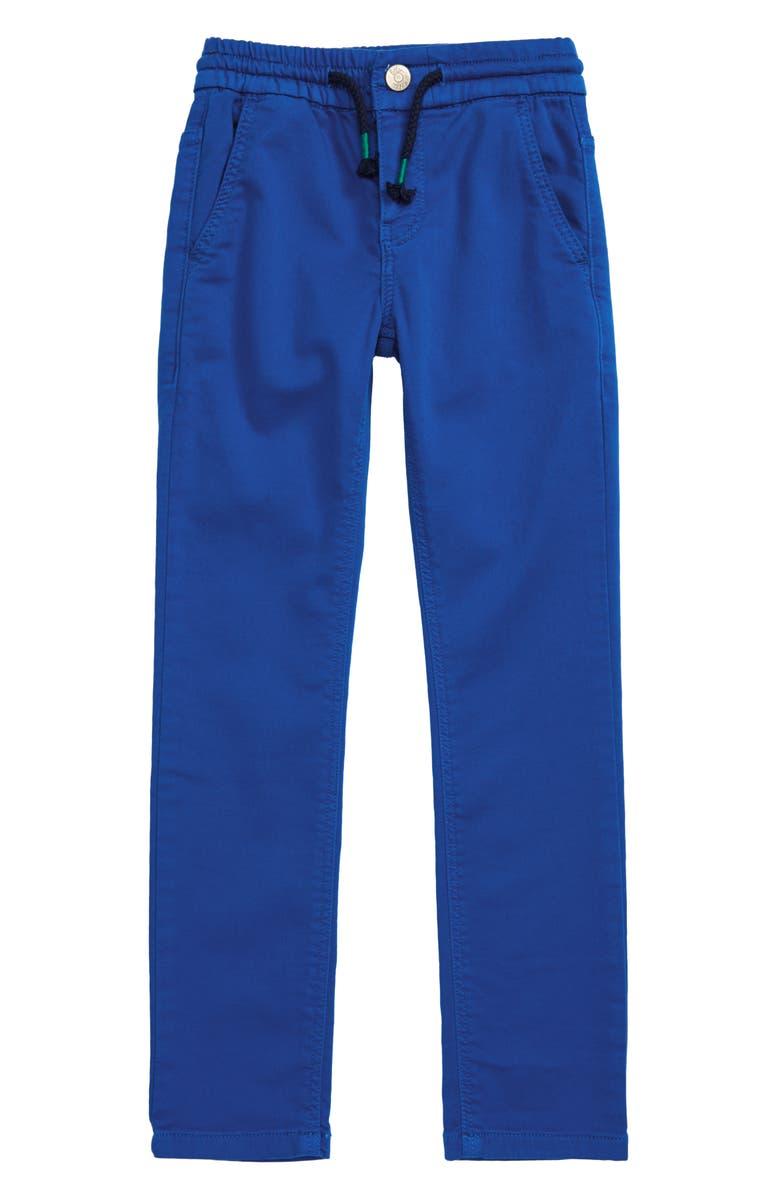 MINI BODEN Skinny Drawstring Pants, Main, color, BOLD BLUE