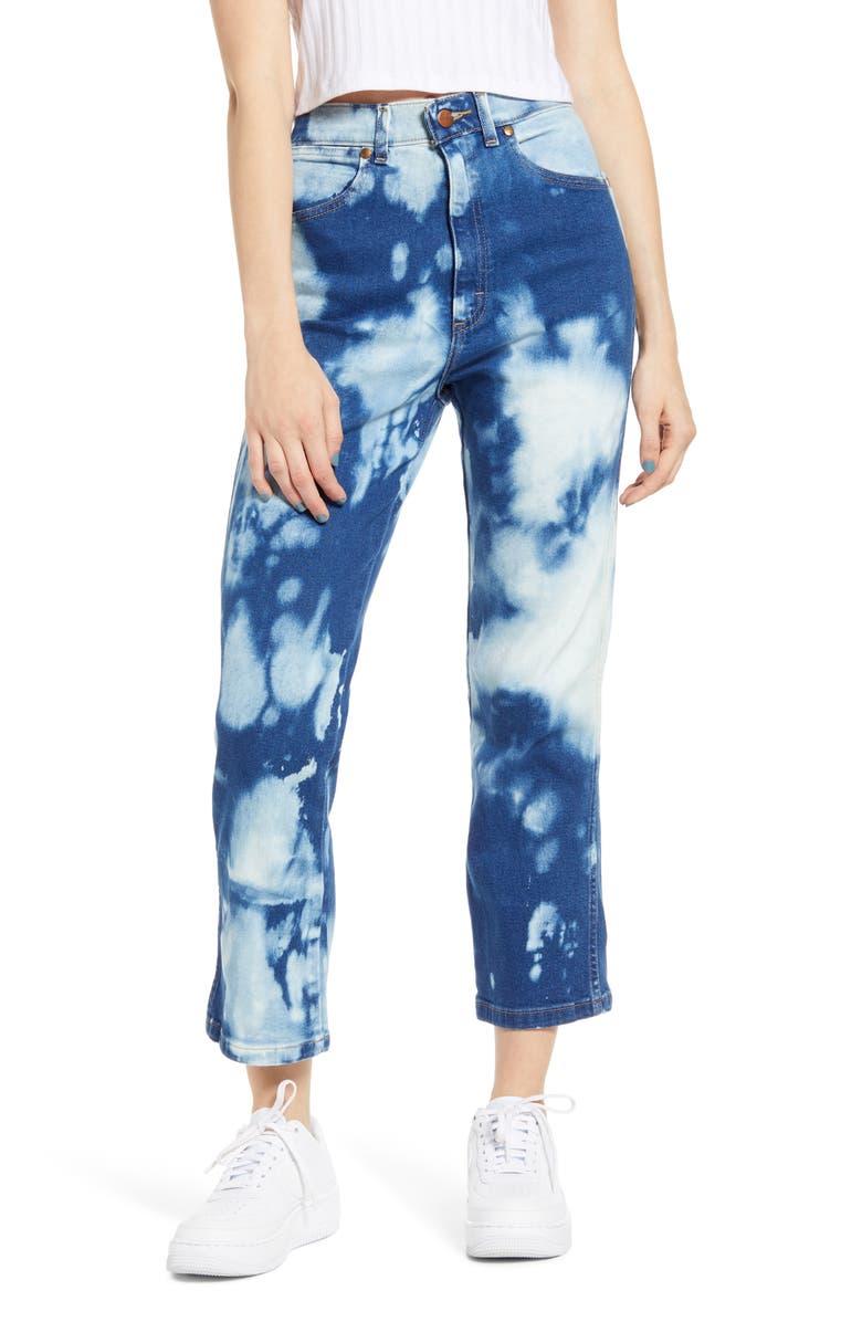 WRANGLER Bleached Heritage Straight Leg Jeans, Main, color, BLEACH