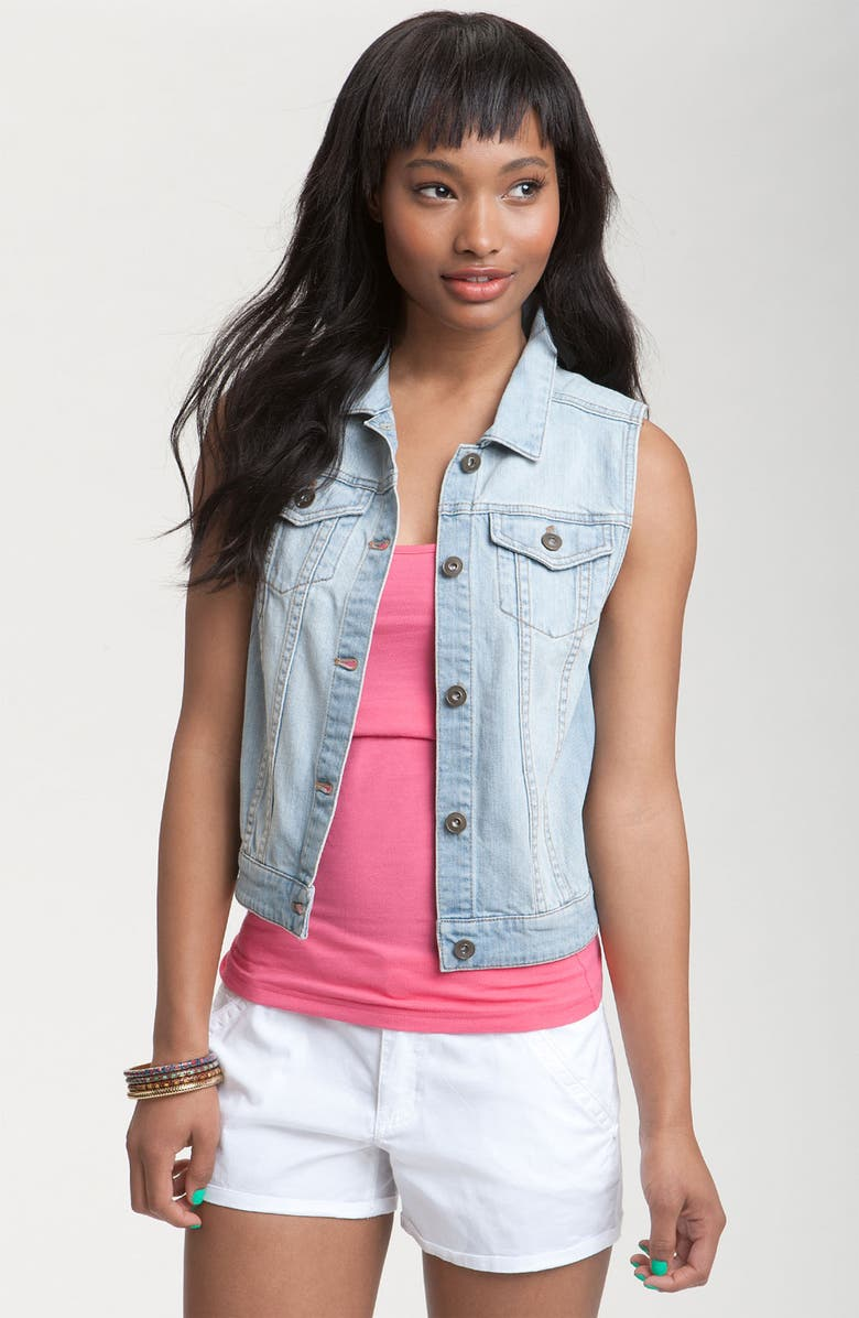 BP. Sleeveless Denim Vest, Main, color, 400