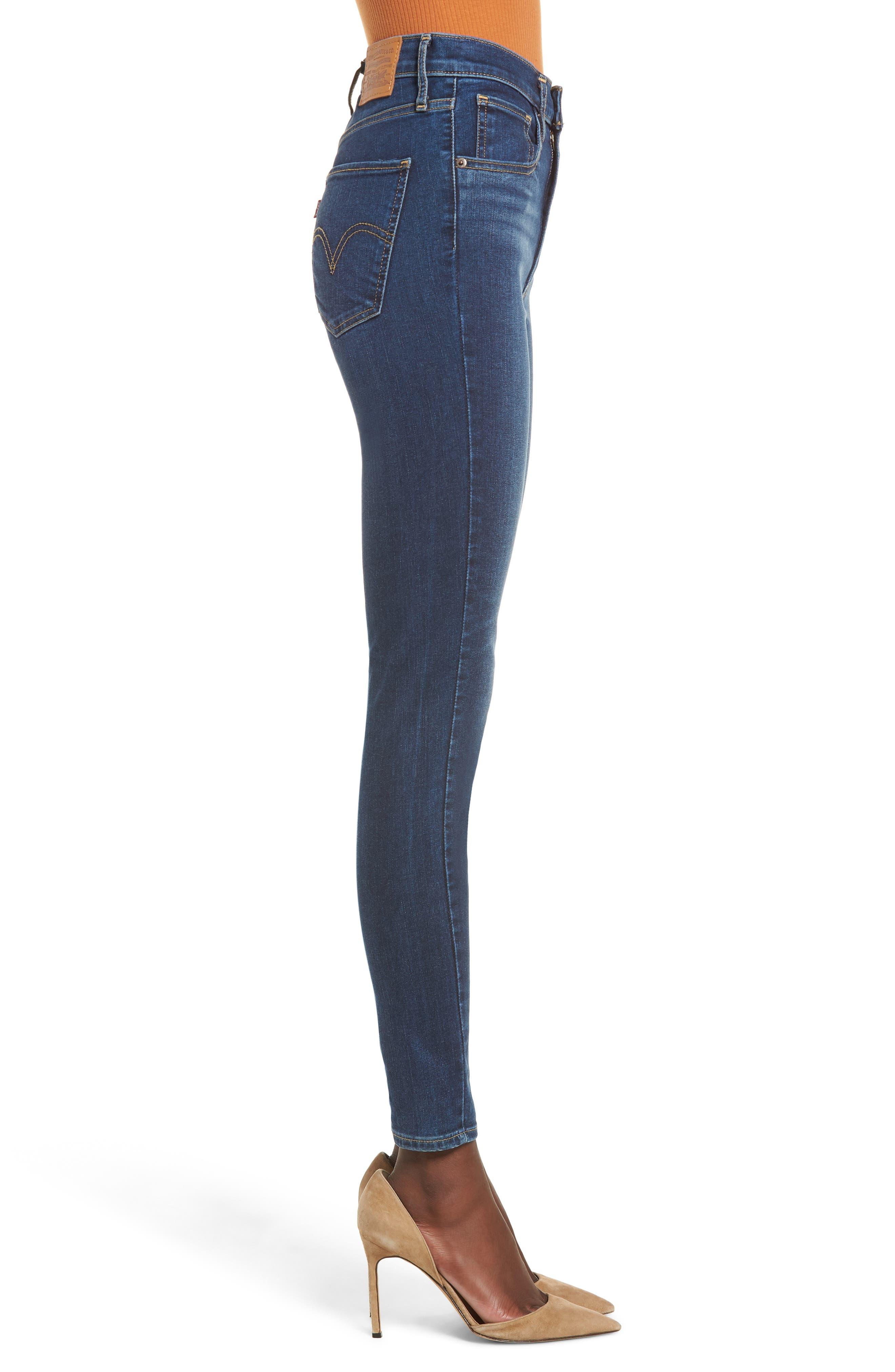 ,                             Mile High Super Skinny Jeans,                             Alternate thumbnail 4, color,                             420