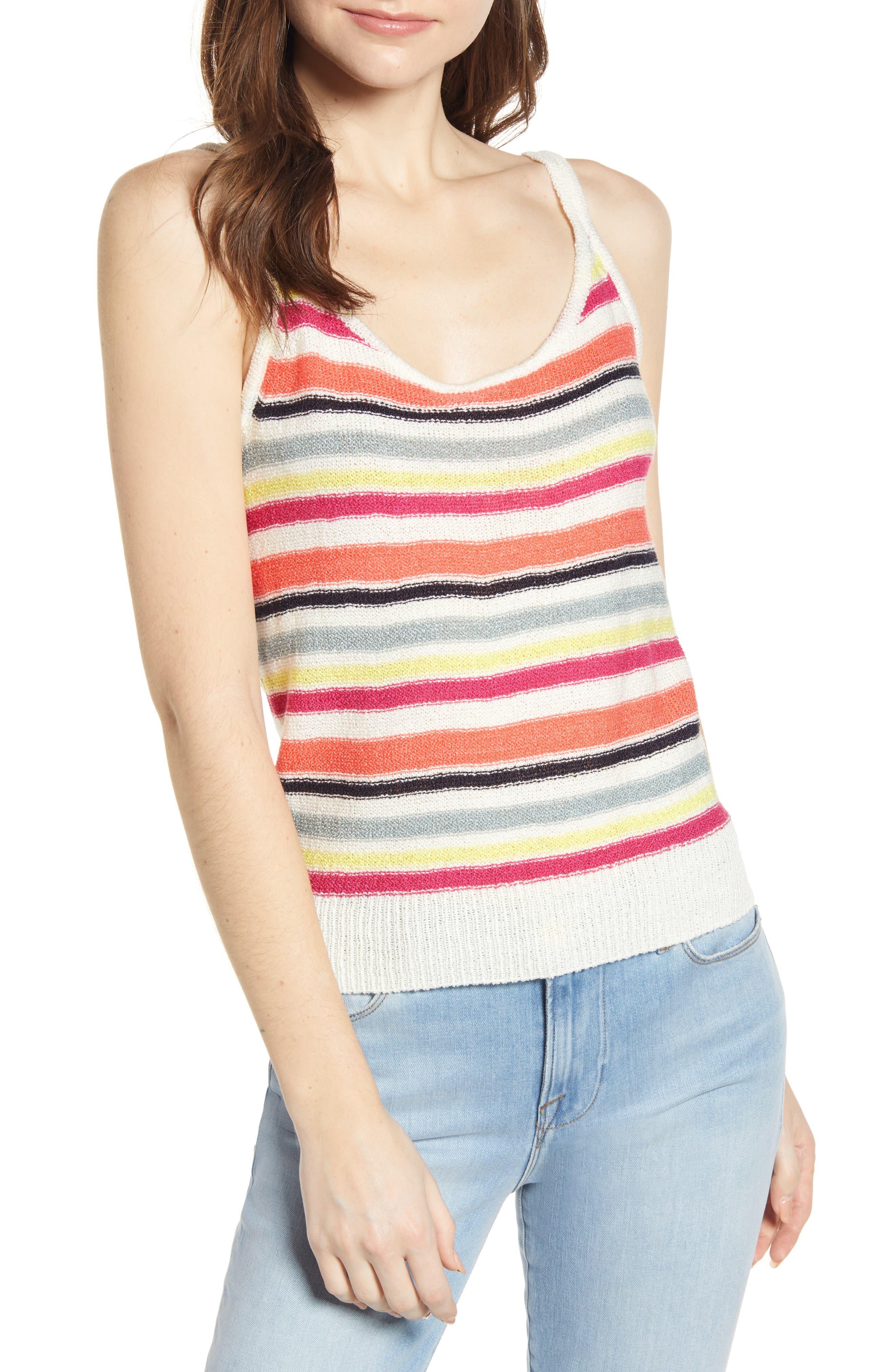 ,                             Aeon Stripe Sweater Tank,                             Main thumbnail 1, color,                             IVORY