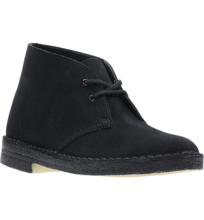 CLARKS<SUP>®</SUP> Desert Chukka Boot, Main, color, BLACK SUEDE