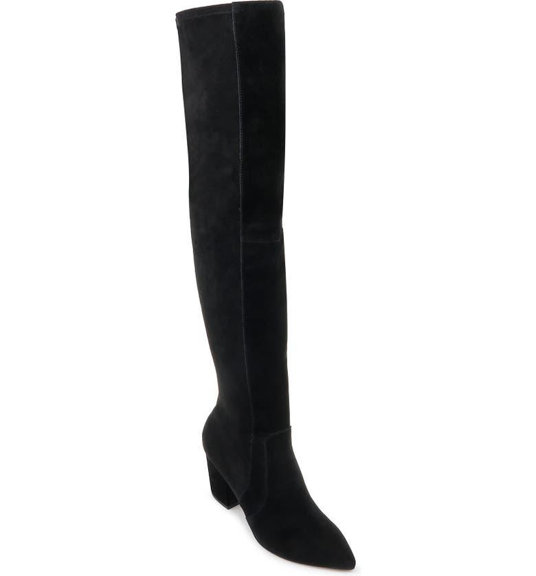 SPLENDID Poet Over the Knee Boot, Main, color, BLACK SUEDE