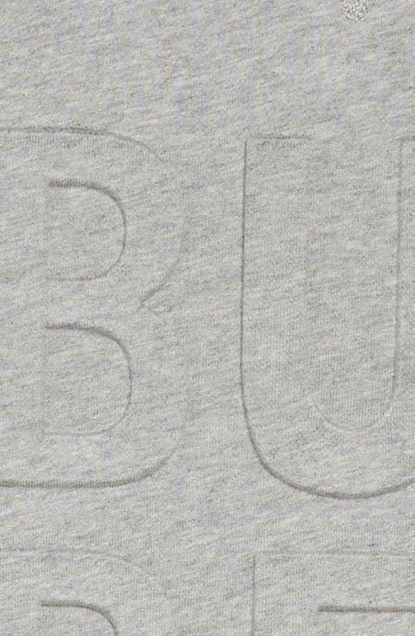 ,                             Aurora Logo Sweatshirt Dress,                             Alternate thumbnail 3, color,                             GREY MELANGE
