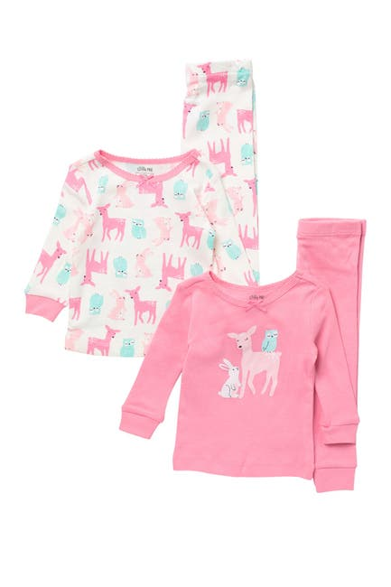 Image of Little Me Woodland 4 Piece Pajama Set