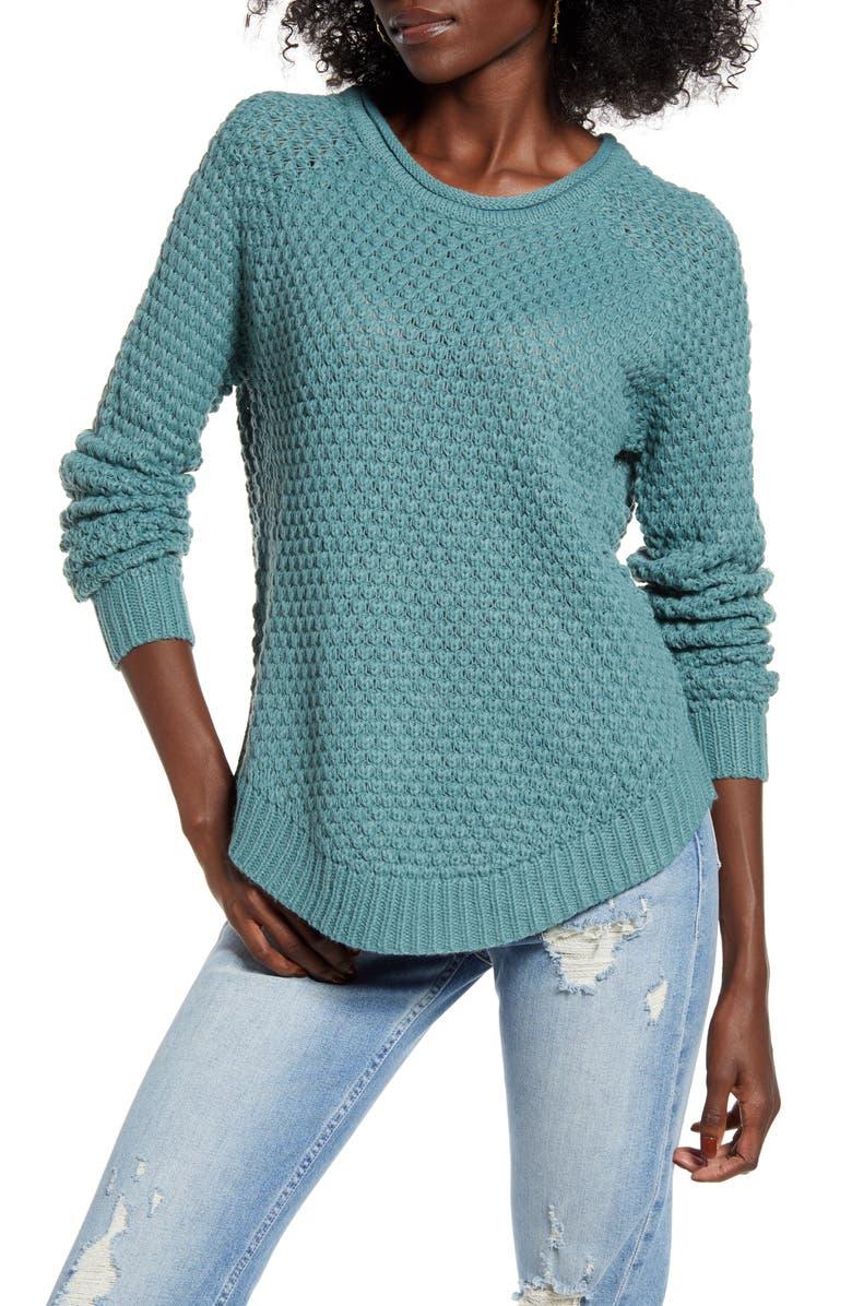 VERO MODA Esme Surf Roll-Neck Sweater, Main, color, NORTH ATLANTIC