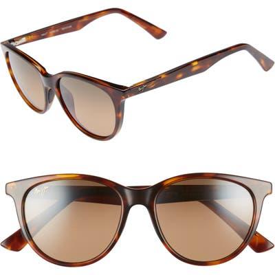 Maui Jim Cathedrals 52mm Polarizedplus2 Cat Eye Sunglasses - Tortoise/ Bronze