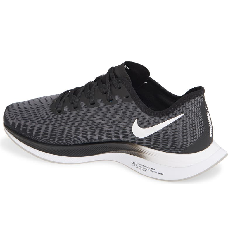 NIKE Zoom Pegasus Turbo 2 Running Shoe, Main, color, BLACK/ WHITE/ GUNSMOKE/ GREY