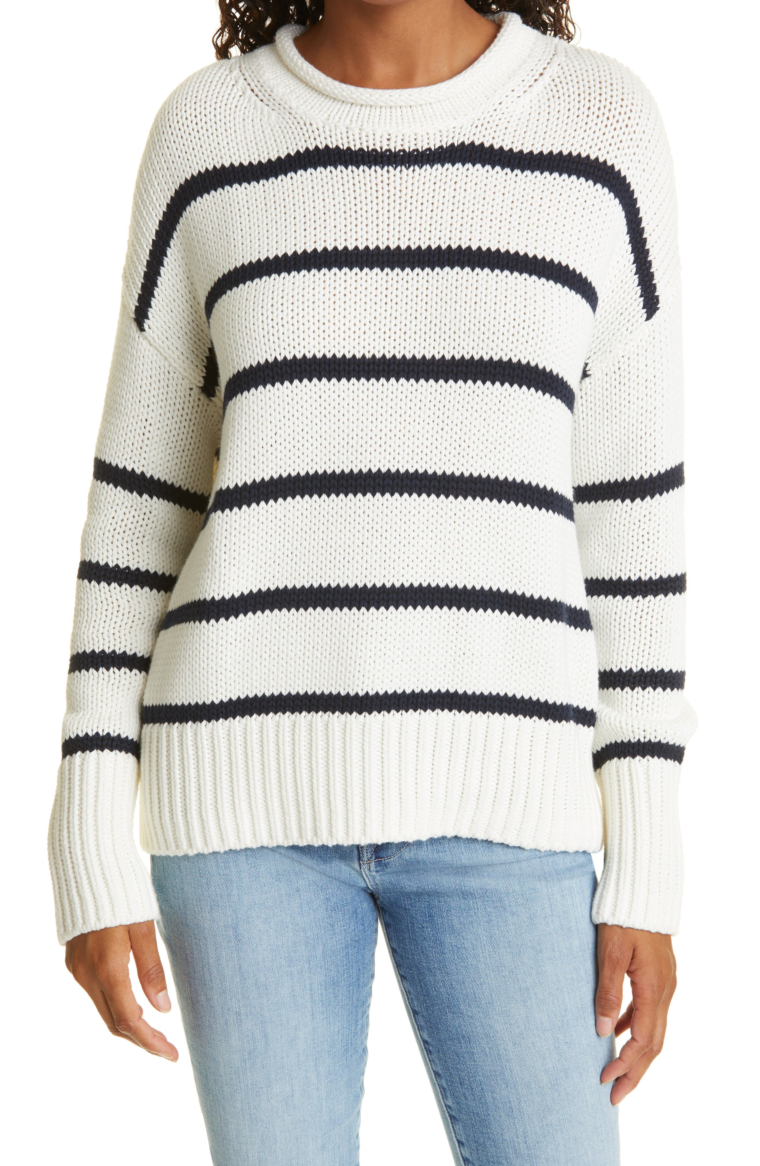 Marin Stripe Cotton Sweater