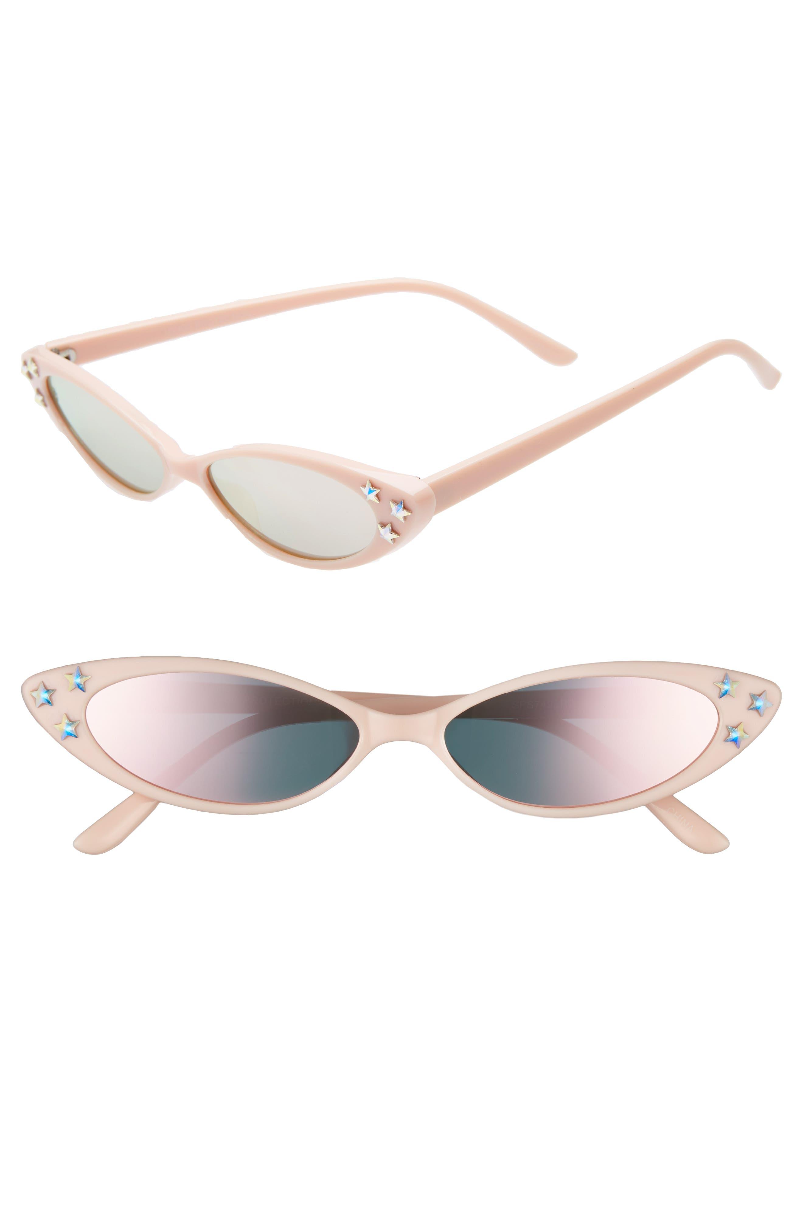 Rad + Refined Mini Oval Sunglasses - Pink/ Crystal