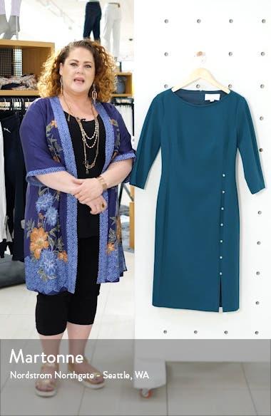 Dikena Ponte Sheath Dress, sales video thumbnail
