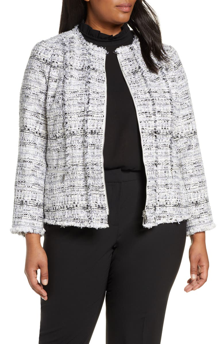 LAFAYETTE 148 NEW YORK Noelle Tweed Jacket, Main, color, 001