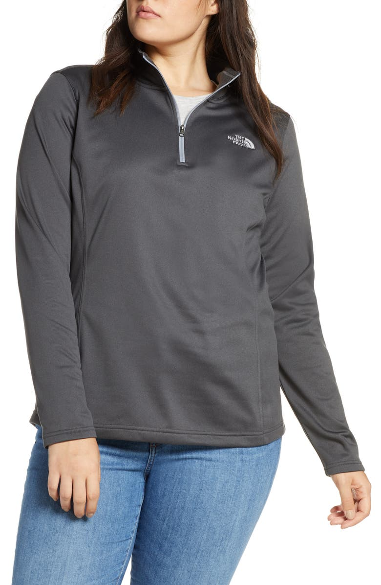 THE NORTH FACE Tech Mezzaluna Water Repellent Quarter Zip Jacket, Main, color, GREY