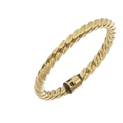 Bony Levy 14K Gold Textured Stacking Ring