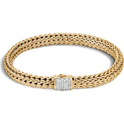 John Hardy Classic Chain Diamond & 18K Gold 5Mm Bracelet