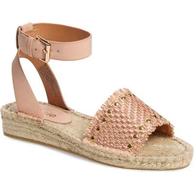 Kensie Alabama Studded Espadrille Ankle Strap Sandal- Brown