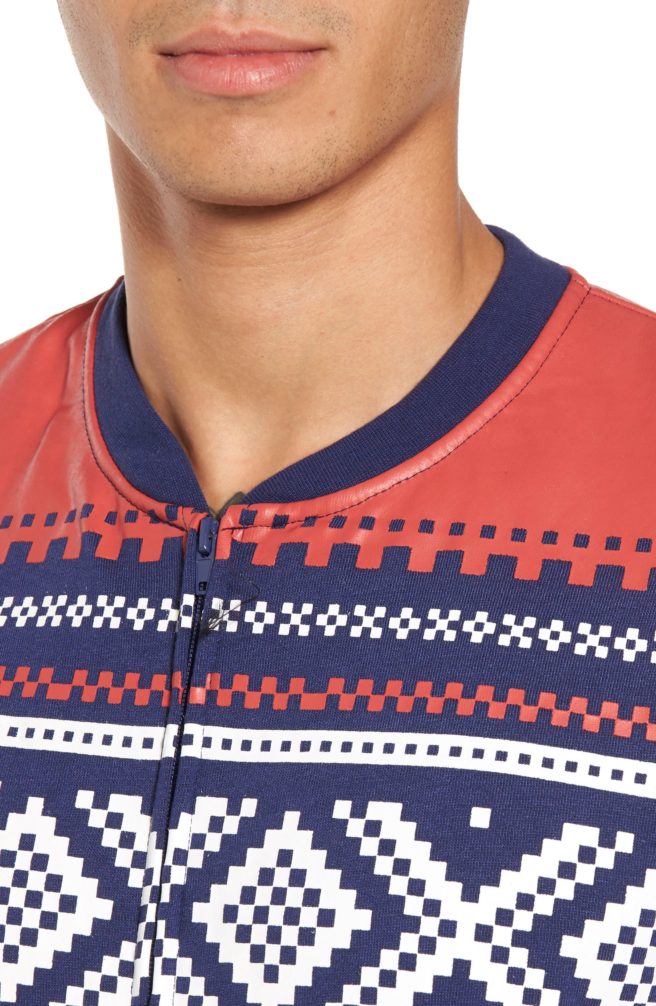 ,                             Fleece One-Piece Pajamas,                             Alternate thumbnail 4, color,                             040