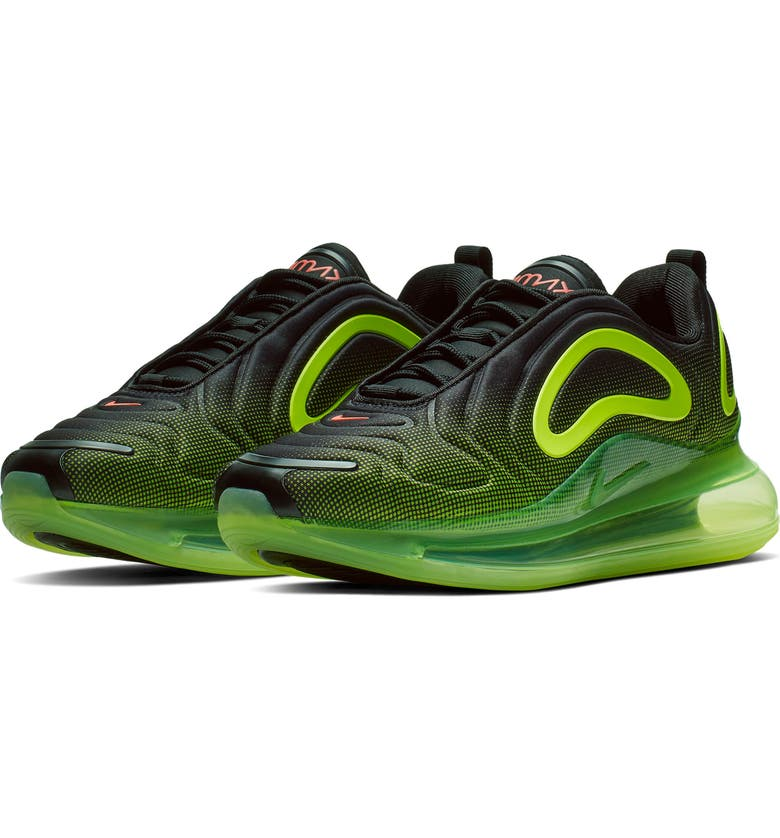 NIKE Air Max 720 Sneaker, Main, color, BLACK/ BRIGHT CRIMSON/ VOLT
