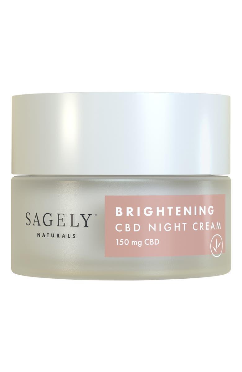 SAGELY NATURALS Brightening CBD Night Cream, Main, color, NO COLOR