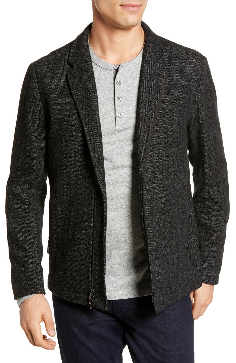 ROBERT BARAKETT Calabria Herringbone Jacket, Main, color, 001