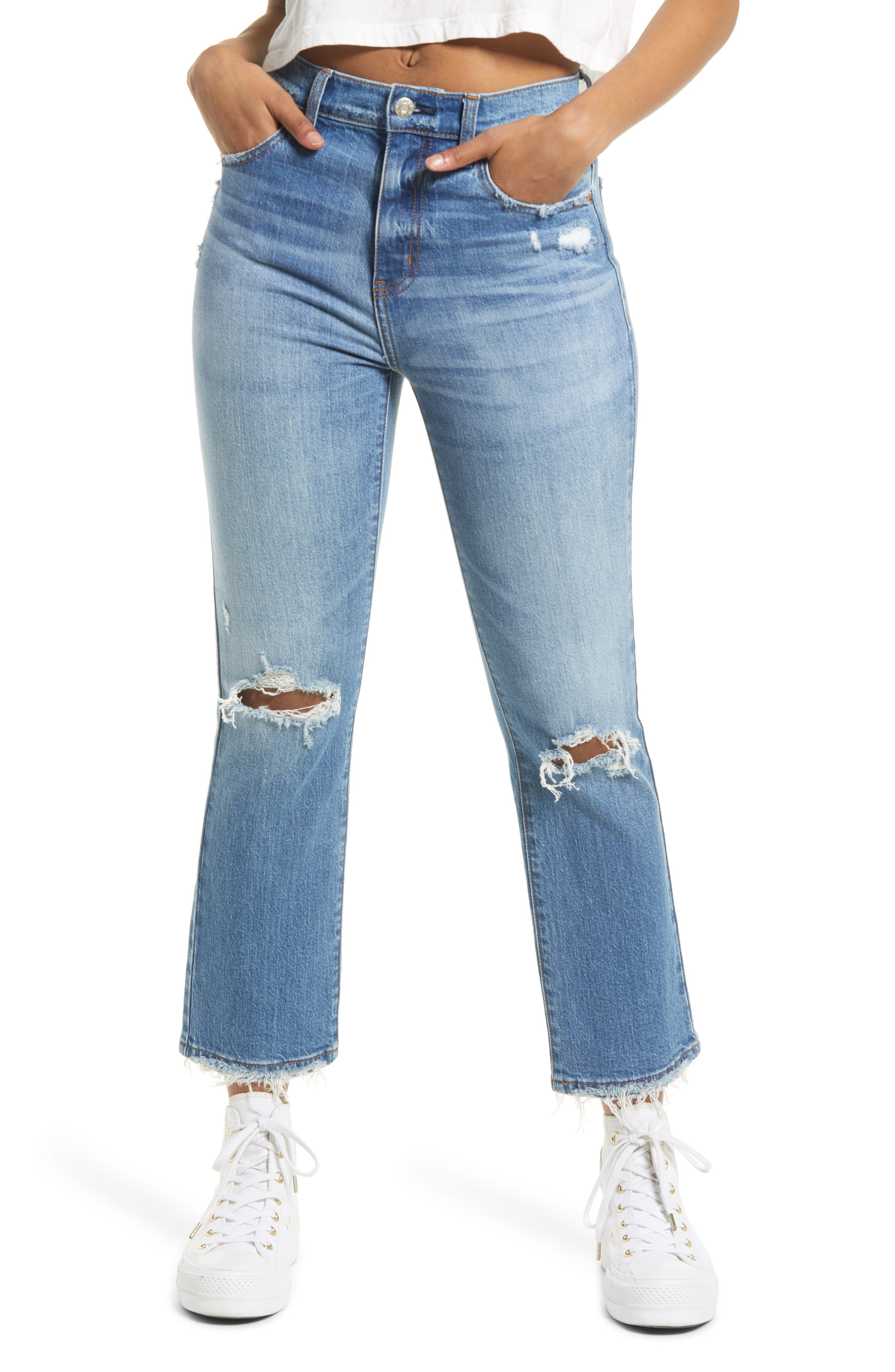 Shy Girl High Waist Flare Crop Jeans