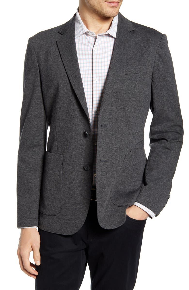 NORDSTROM MEN'S SHOP Extra Trim Fit Comfort Sport Coat, Main, color, GREY PAVEMENT HEATHER