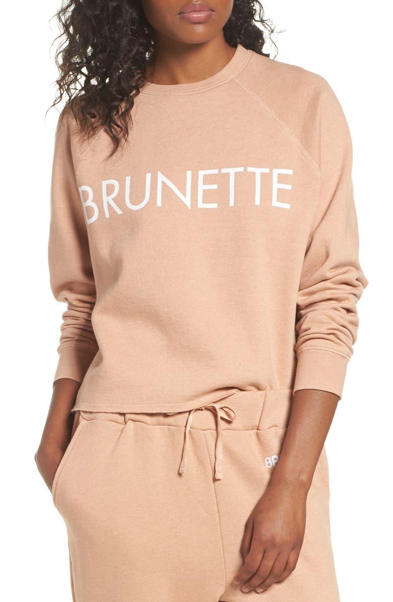 BRUNETTE THE LABEL Middle Sister Brunette Sweatshirt, Main, color, ROSE