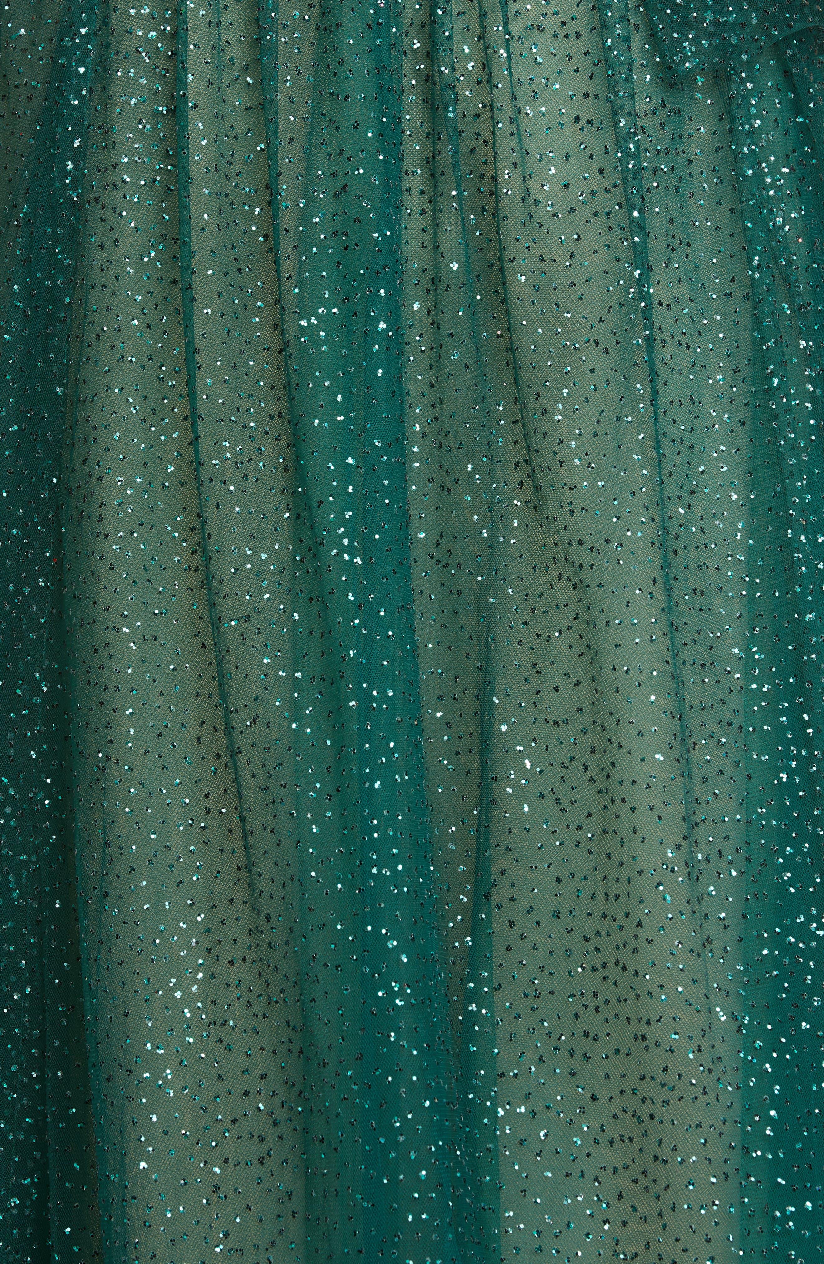 Marchesa Notte Dresses Glitter Tulle One-Shoulder Midi Dress