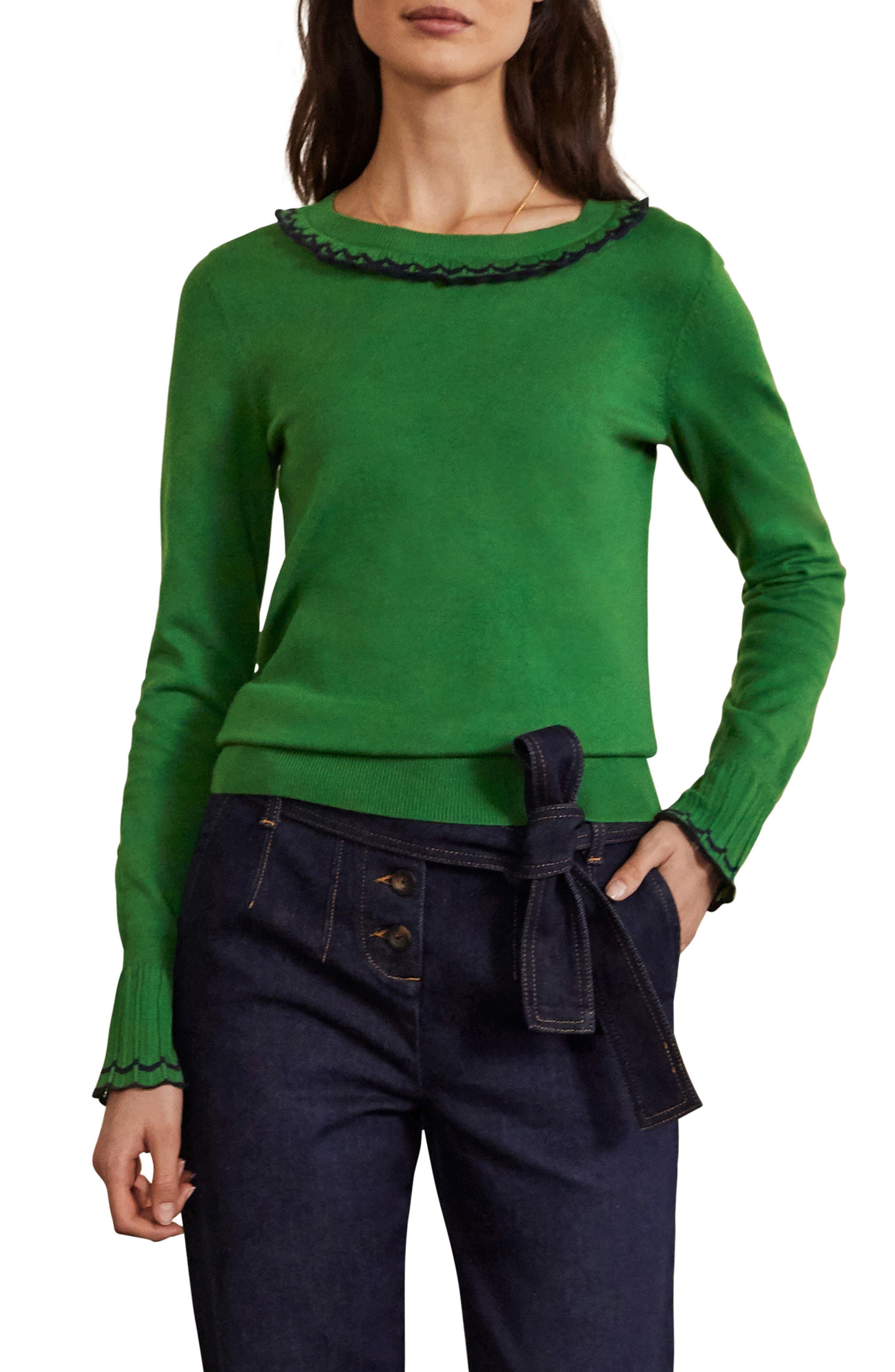 Plus Size Women's Boden Aimee Pointelle Sweater