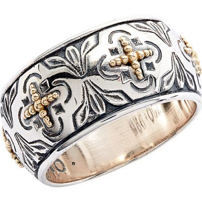 Konstantino Cross Wide Band Ring