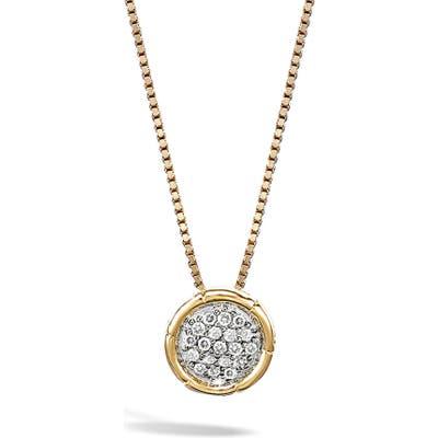 John Hardy Bamboo Diamond Pendant Necklace