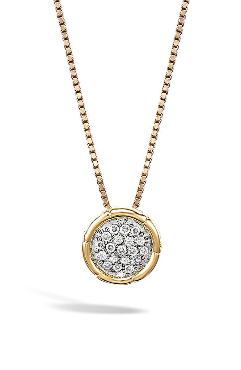 JOHN HARDY Bamboo Diamond Pendant Necklace, Main, color, 710