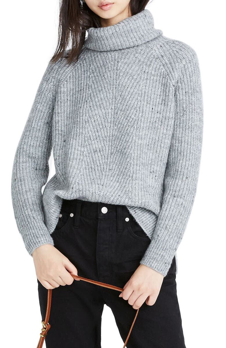 MADEWELL Donegal Mercer Turtleneck Sweater, Main, color, DONEGAL GRAPHITE