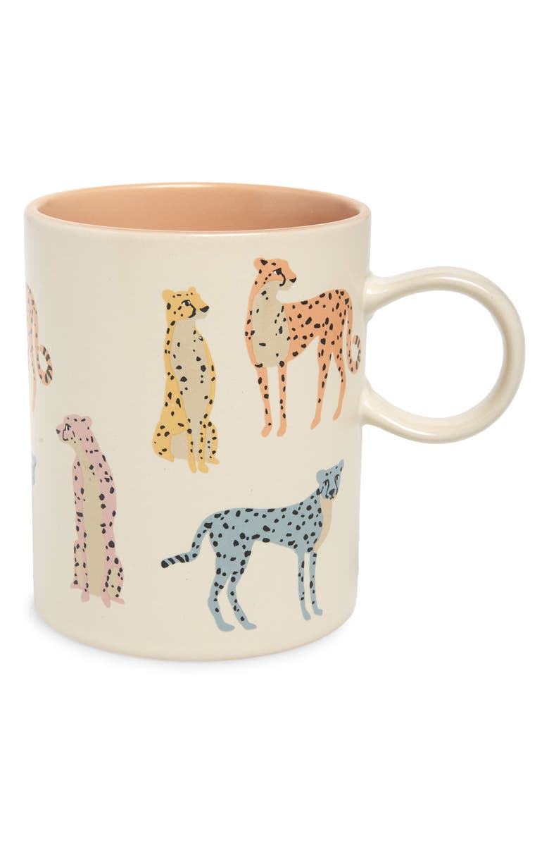 FRINGE STUDIO Saratoga Cats Mug, Main, color, CHEETAHS