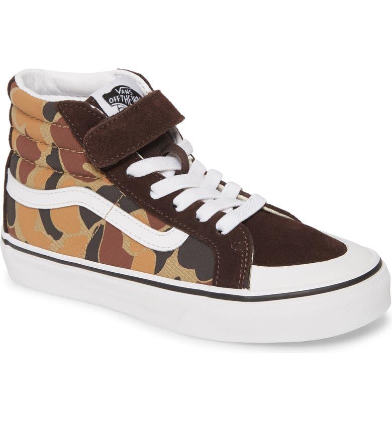 VANS Sk8-Hi Reissue Sneaker, Main, color, CHOCOLATE TORTE/ TRUE WHITE