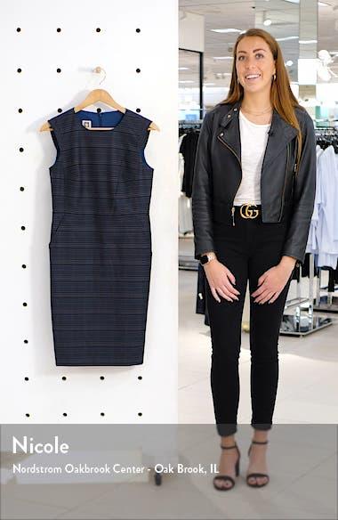 Windowpane Plaid Sheath Dress, sales video thumbnail