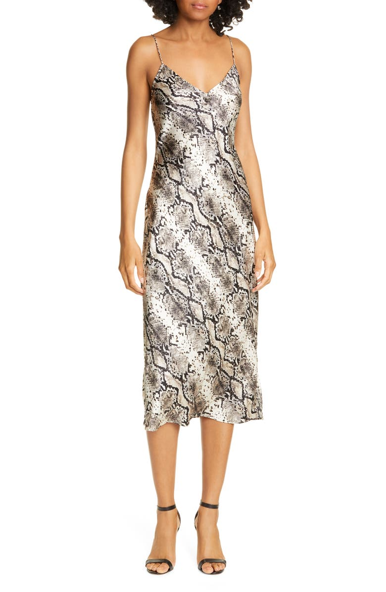 CAMI NYC The Raven Silk Slipdress, Main, color, SNAKE