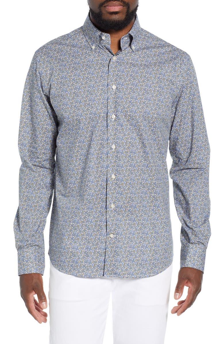 Emanuel Berg Regular Fit Paisley Print Shirt