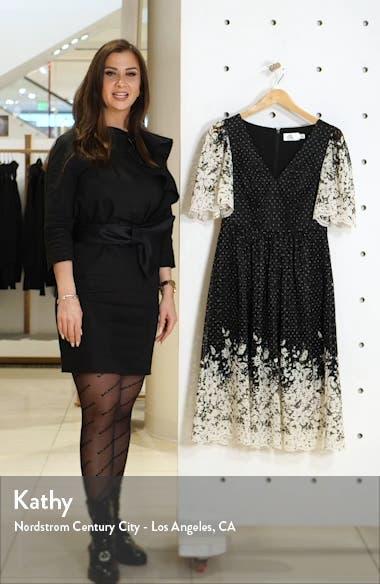 Floral Contrast Lace Dress, sales video thumbnail