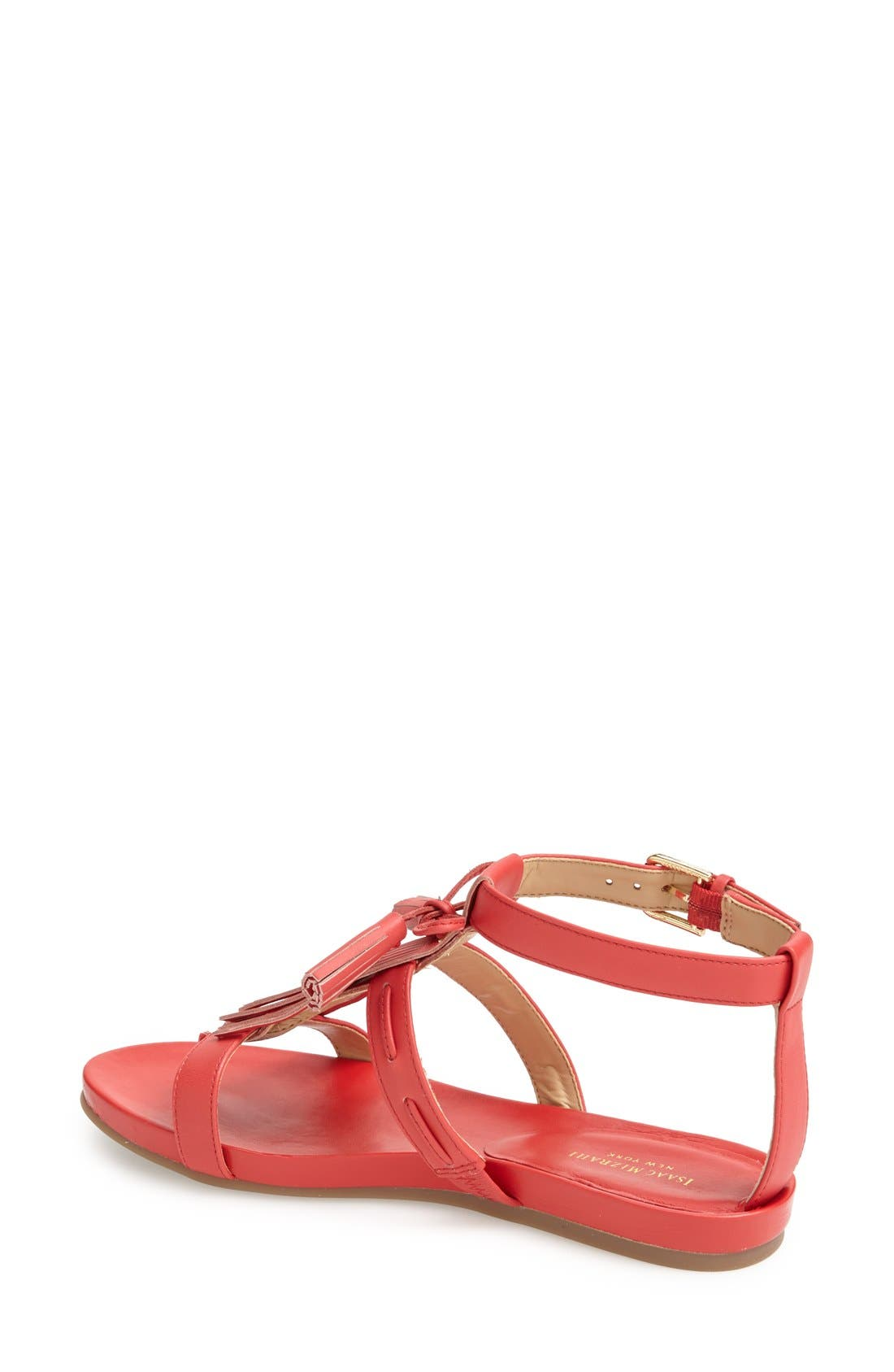 ,                             'Primp' Leather Fringe Sandal,                             Alternate thumbnail 8, color,                             610