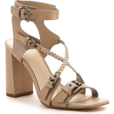 Botkier Rory Strappy Buckle Sandal, Beige