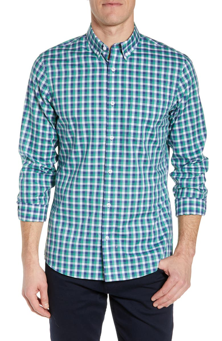 NORDSTROM MEN'S SHOP Regular Fit Check Shirt, Main, color, 310