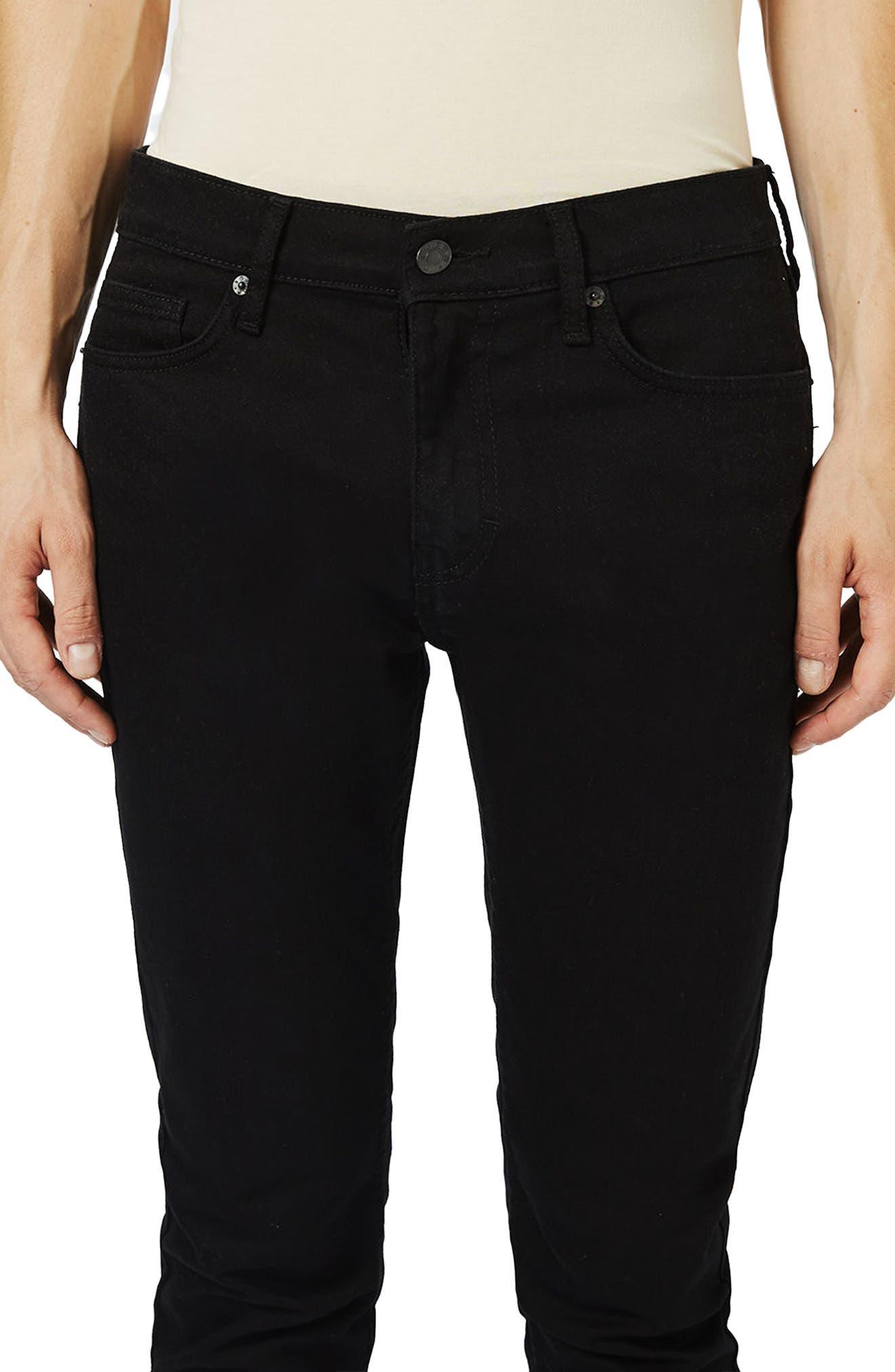 ,                             Skinny Stretch Jeans,                             Alternate thumbnail 4, color,                             BLACK